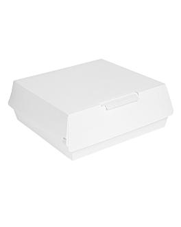 "boÎtes ""large lunch box"" 'thepack' 240 g/m2 23,5x24x8,7 cm blanc carton ondulÉ nano-micro (150 unitÉ)"