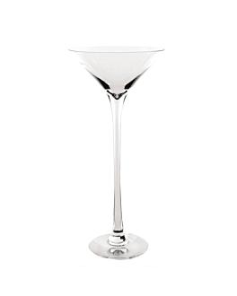 dÉcoration gÉante - coupe martini Ø 28x60 cm transparent verre (1 unitÉ)