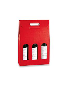 30 e. pappkarton 3 flaschen 27x9x38,5 cm rot karton (1 einheit)