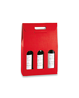 30 u. cajas 3 botellas 27x9x38,5 cm rojo cartÓn (1 unid.)