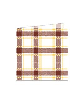servilletas 'like linen - scottish' 70 g/m2 40x40 cm marrÓn spunlace (600 unid.)