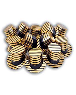 sombreros de copa Ø 27,5x15,5 cm dorado cartoncillo (12 unid.)