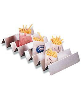 sÉparateur pour sacs frites 47x25x5,5 cm argente inox (1 unitÉ)