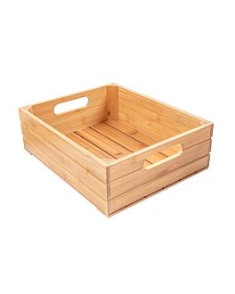 buffet box gn 1/2 32,5x26,5x10 cm natural bamboo (1 unit)