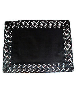 dentelles rectangulaires ajourÉes 40 g/m2 32x26 cm noir papier (250 unitÉ)