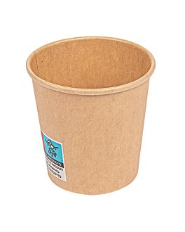 gobelets boissons chaudes 1 paroi 120 ml 230 + 18 pe g/m2 Ø6,2/4,5x6 cm marron carton (1000 unitÉ)