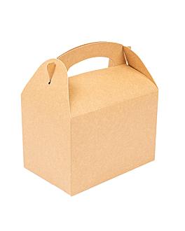 party boxes 250 gsm 17x16x10 cm natural kraft (300 unit)