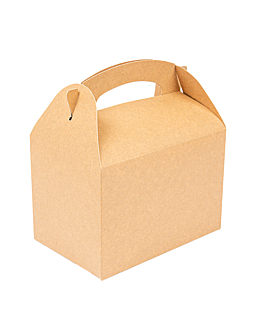 scatole menu bambini 250 g/m2 17x16x10 cm naturale kraft (300 unitÀ)