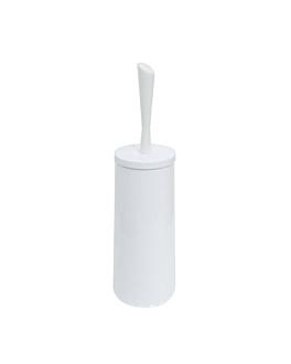 balayette Ø 12,5x27 cm blanc acier (1 unitÉ)