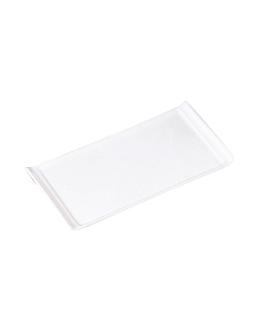platos rectangulares 26x12,5x1,6 cm blanco porcelana (12 unid.)