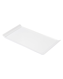 rectangular plates 26x12,5x1,6 cm white porcelain (12 unit)