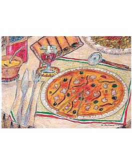 sets de table offset 'pizza & pasta' 70 g/m2 31x43 cm quadrichromie papier (2000 unitÉ)