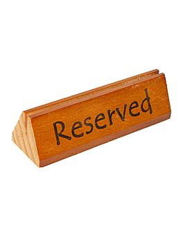 """plaques """"reservado/reserved"""" 15x4,4x4,4 cm bois (10 unitÉ)"""
