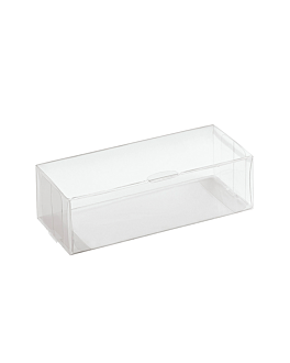 pastry cases 15x6x4 cm clear pvc (200 unit)