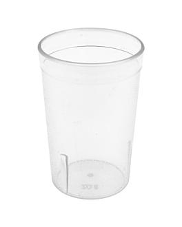 bicchieri 240 ml Ø 6,2x9,9 cm traslucido san (72 unitÀ)