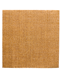 ecolabel napkins 'double point - arpillera' 19 gsm 40x40 cm brown recycled tissu (1200 unit)