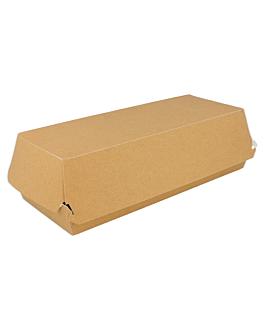 """caixas """"panini"""" 300 g/m2 26x12x7 cm castanho cartolina (300 unidade)"""