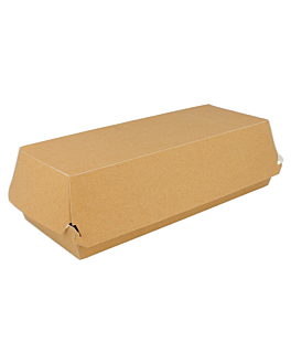 "cajas ""panini"" 300 g/m2 26x12x7 cm marrÓn cartoncillo (300 unid.)"