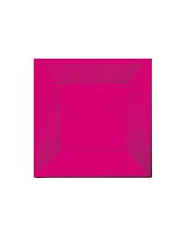 25 e. quadratische teller 23x23 cm pink ps (20 einheit)