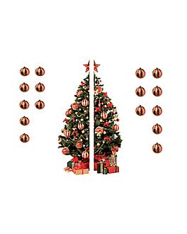 "electrostatic form ""fir tree"" 15+15x60 cm assorted pvc (1 unit)"