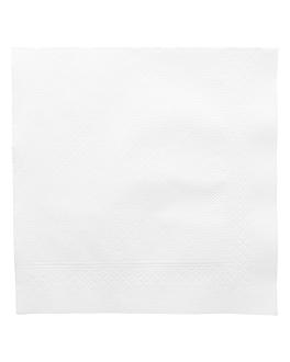 serviettes 4 plis 'quattro' 21 g/m2 45x45 cm blanc ouate (750 unitÉ)