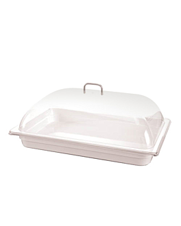 dome cover 1/1 gn 53,8x33,3x14,5 cm clear polycarbonate (1 unit)