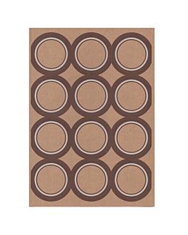 100 fogli din a4 con 12 etichette tonde Ø 6,4 cm kraft (1 unitÀ)