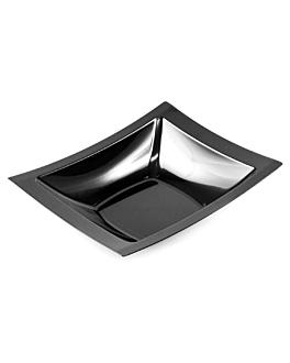 10 e. suppenteller 19,5x16,2 cm schwarz ps (12 einheit)
