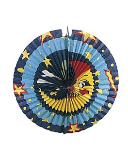 """fanalets """"lluna"""" 50 cm assortiment paper (1 unitat)"""