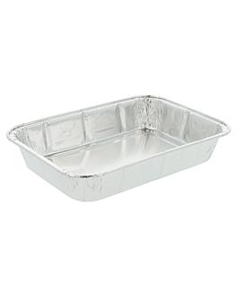 recipientes rectangulares 550 ml 18,8x13,2x3 cm aluminio (1600 unid.)