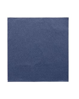 serviettes ecolabel 2 plis 18 g/m2 39x39 cm bleu marine ouate (1600 unitÉ)