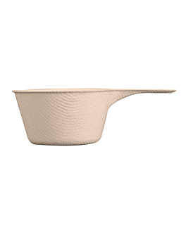recipiente taza con asa 'bionic' 9,2x5,7x3 cm natural bagazo (1000 unid.)
