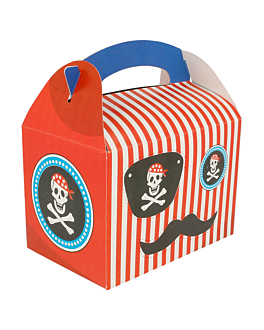 """party boxes """"pirate"""" 320 gsm 17x16x10 cm four coloured cardboard (300 unit)"""