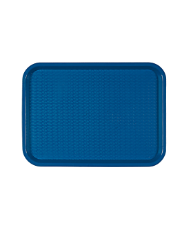 fast food tray 30,4x41,4 cm blue pp (1 unit)