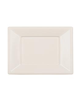 25 u. vassoi rettangolari 23x33 cm bianco ps (20 unitÀ)