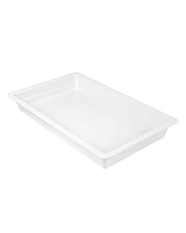 gn pans 1/1 6,5 (h) cm white melamine (3 unit)