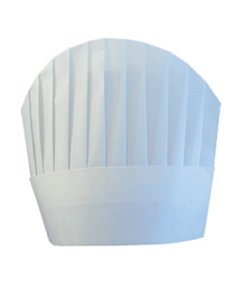 "toques continental chef's ""round top"" 23 cm blanc airlaid (10 unitÉ)"