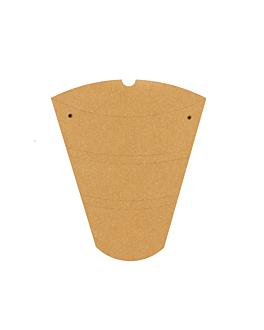 rÉcipients pour crÊpes 250 g/m2 22,5x21,5x4 cm marron carton (500 unitÉ)