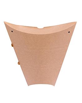 contenitori crÊpes 250 g/m2 22,5x21,5x4 cm marrone cartone (500 unitÀ)