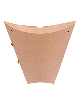 envases para crÊpes 250 g/m2 22,5x21,5x4 cm marrÓn cartoncillo (500 unid.)