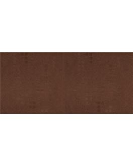 """""""tÊte À tÊte"""" folded 1/2 'spunbond' 60 gsm 40x100 cm chocolate pp (400 unit)"""