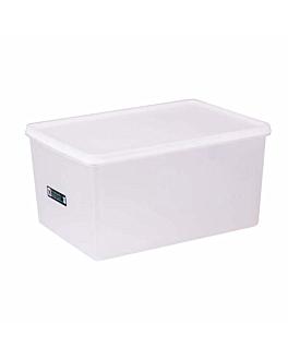 recipiente alimentos + tapa incorporada 6750 ml 30x20x15 cm blanco pp (1 unid.)
