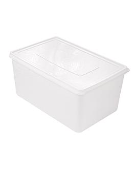 rÉcipient aliments + couvercle incorporÉ 6750 ml 30x20x15 cm blanc pp (1 unitÉ)
