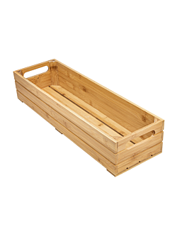 scatola buffet gn 2/4 53x16,2x10 cm naturale bambÙ (1 unitÀ)