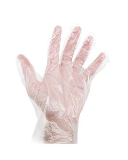 luvas size: s transparente hdpe (100 unidade)