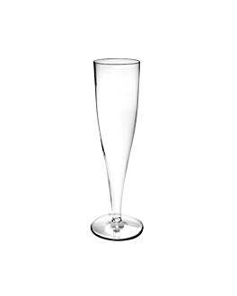 "copas inyectadas ""cava"" 125 ml Ø 4,9x20 cm transparente cristal ps (100 unid.)"