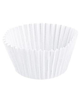 pirottini 'petits fours' 50 g/m2 Ø 4x2,5 cm bianco pergamana antigrassi (500 unitÀ)