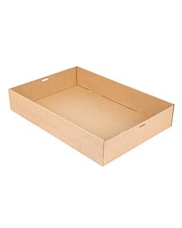 """scatole """"traiteur"""" xl 375 g/m2 45x31x8 cm naturale kraft (50 unitÀ)"""