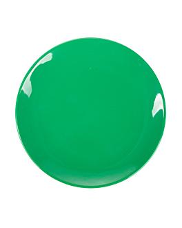 assiettes Ø 15,3 cm vert melanine (12 unitÉ)