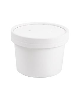 contenitori con coperchi 240 ml 18pe + 340 + 18 pe g/m2 Ø9/7,5x6 cm bianco cartone (250 unitÀ)